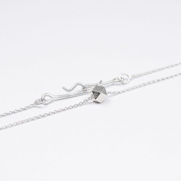necklace artefakti one silver element size m minimalistic view front view